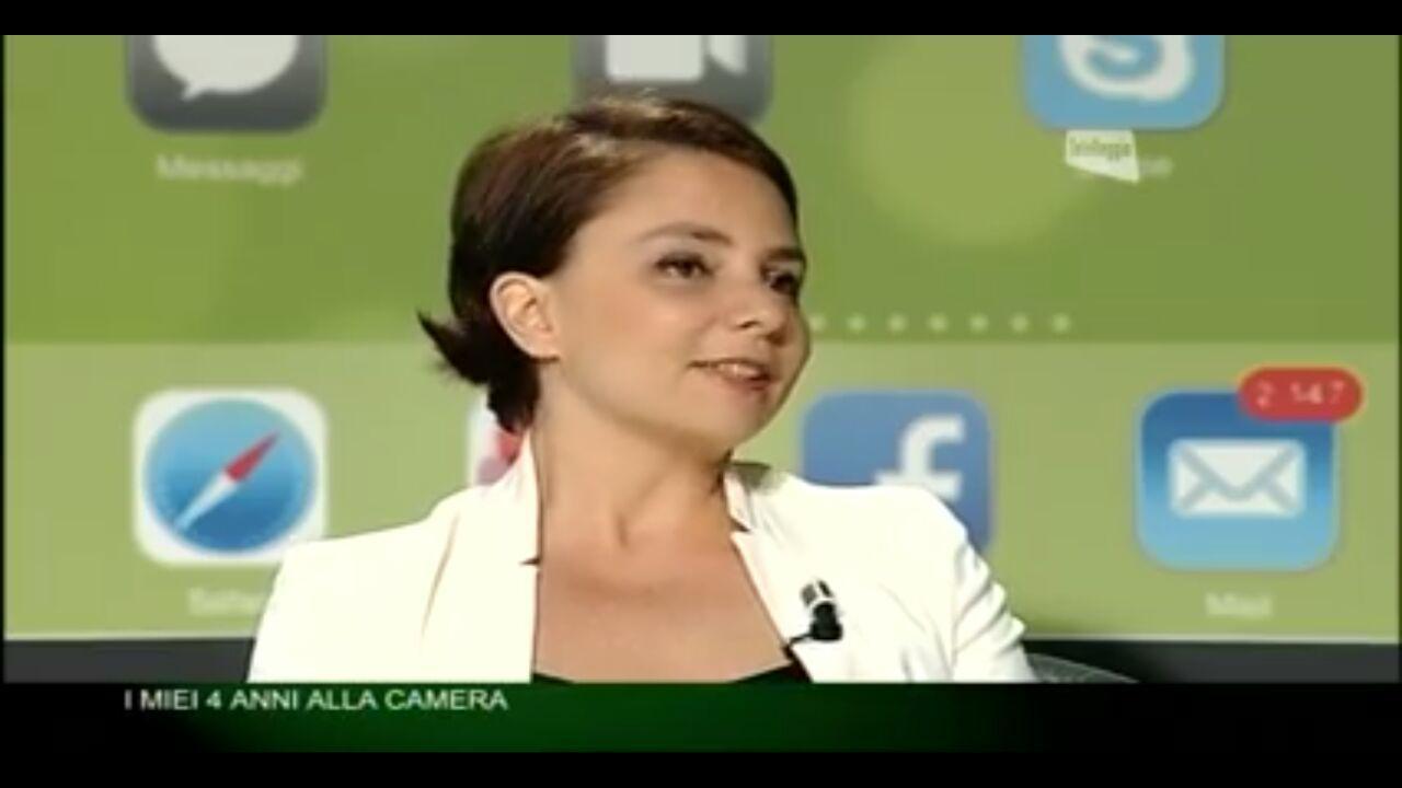 Maria Edera Spadoni (M5S) intervistata dal direttore di Telereggio Franzini