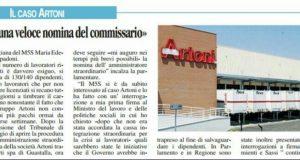 Rs Spadoni nomina di un commissario straordinario per Artoni