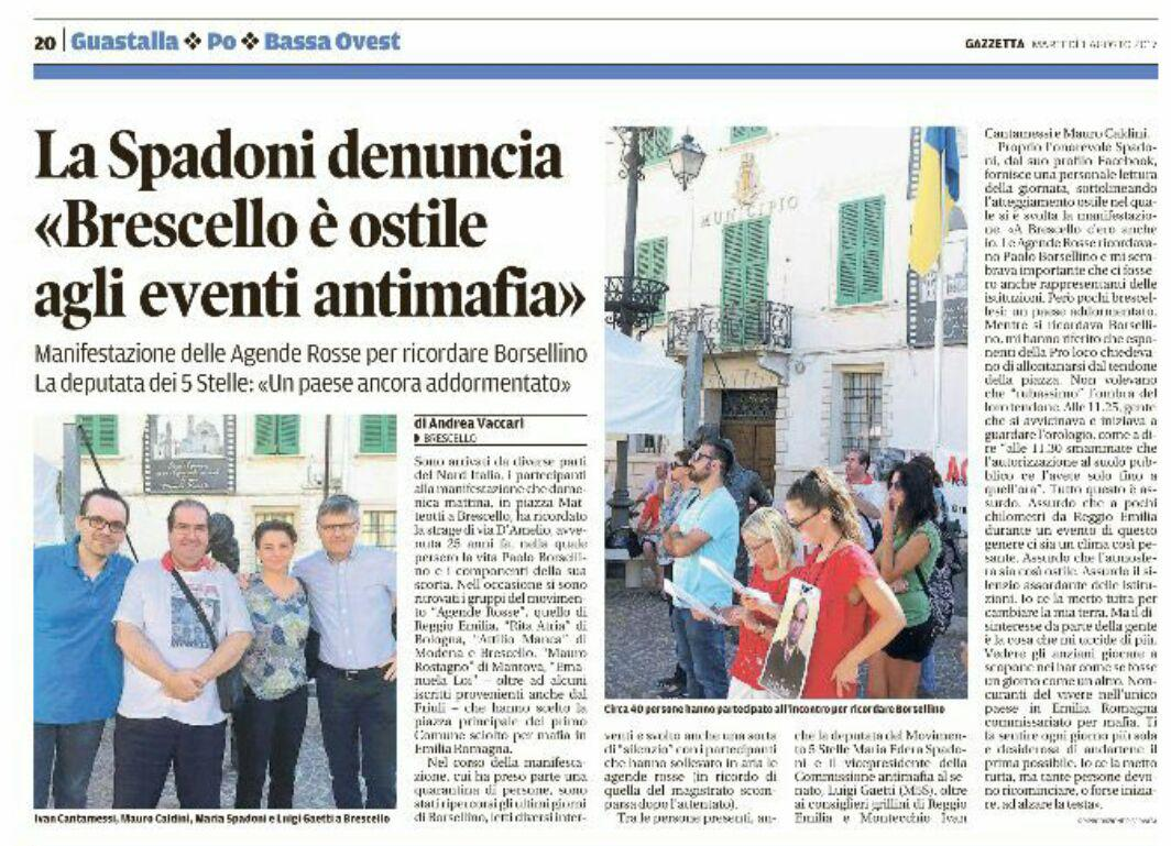 Rs Brescello, manifestazione commemorativa disertata