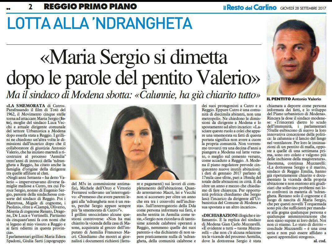 Rs Sergio la smemorata di Cutro Resto del Carlino