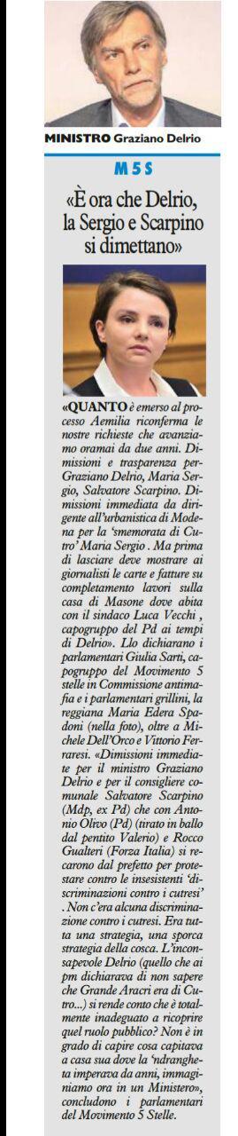 Rs dimissioni Sergio, Delrio e Scarpino Resto del Carlino