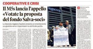 Rs emendamento crac coop Gazzetta