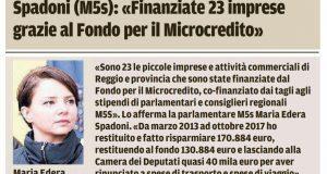 Rs microcredito, rendicontazione Gazzetta di Reggio