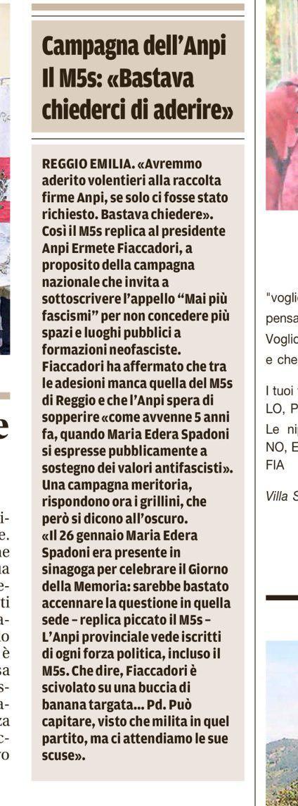 Risposta a Ficcadori La Gazzetta di Reggio