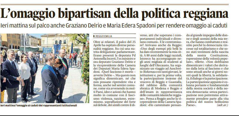 Rs_25 Aprile 2018 Gazzetta di Reggio