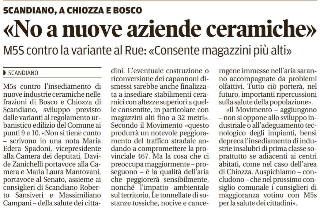 Rs_variante RUE Scandiano Gazzetta