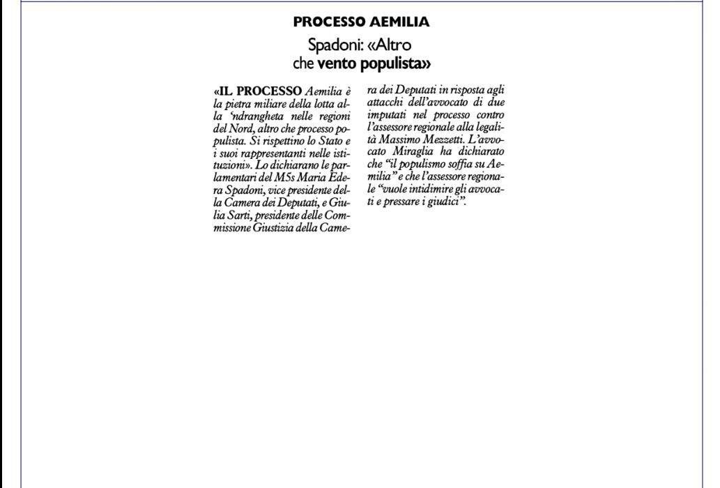Rs_Resto Carlino rispetto istituzioni AEMILIA