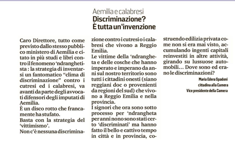 Rs_Gazzetta discriminazioni Aemilia
