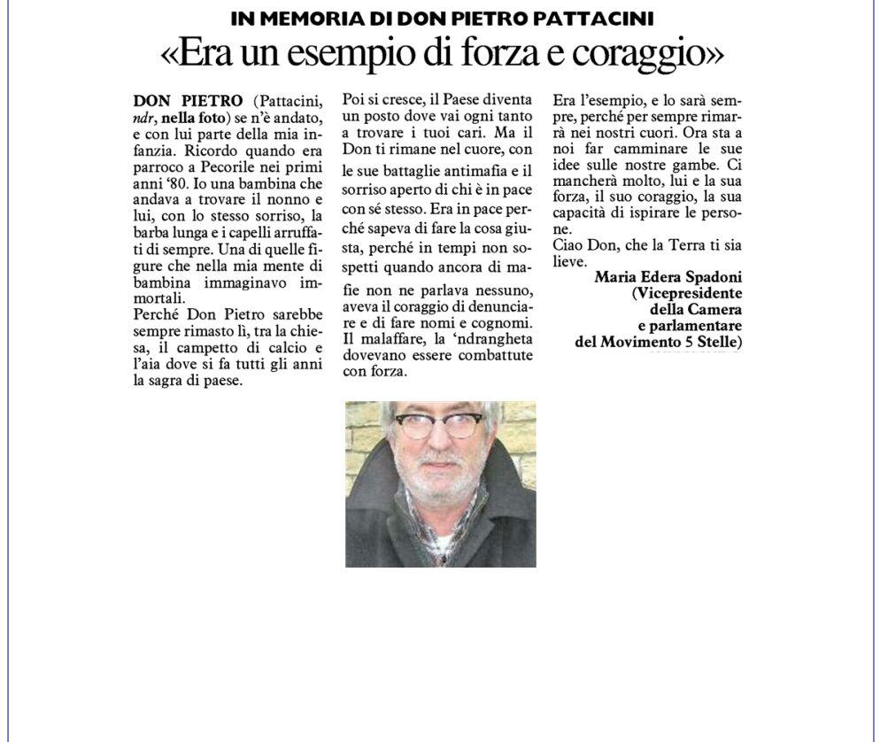 Rs_lettera Don Pietro Pattacini Resto Carlino