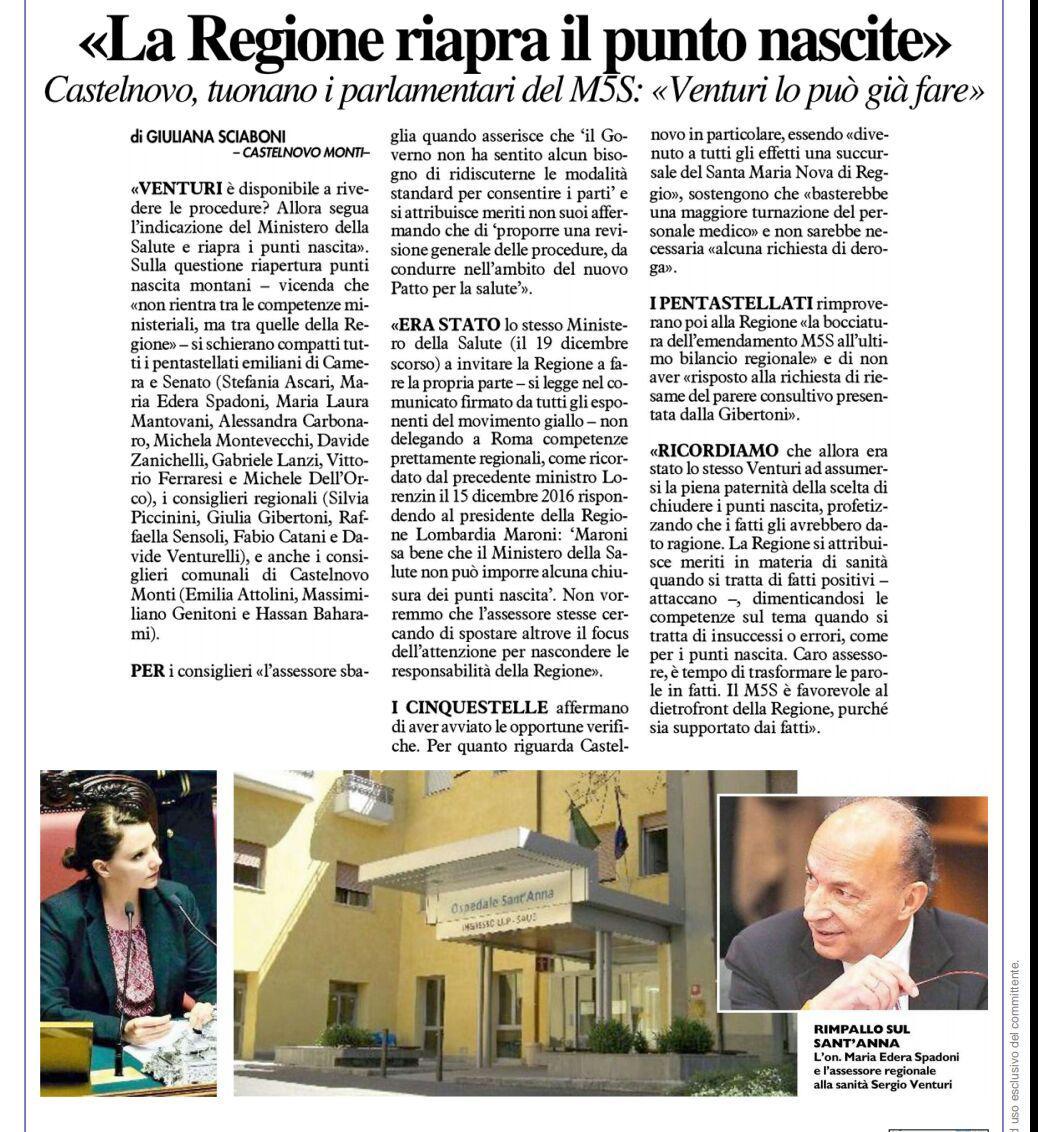 Rs_Gazzetta di Reggio risposta Venturi
