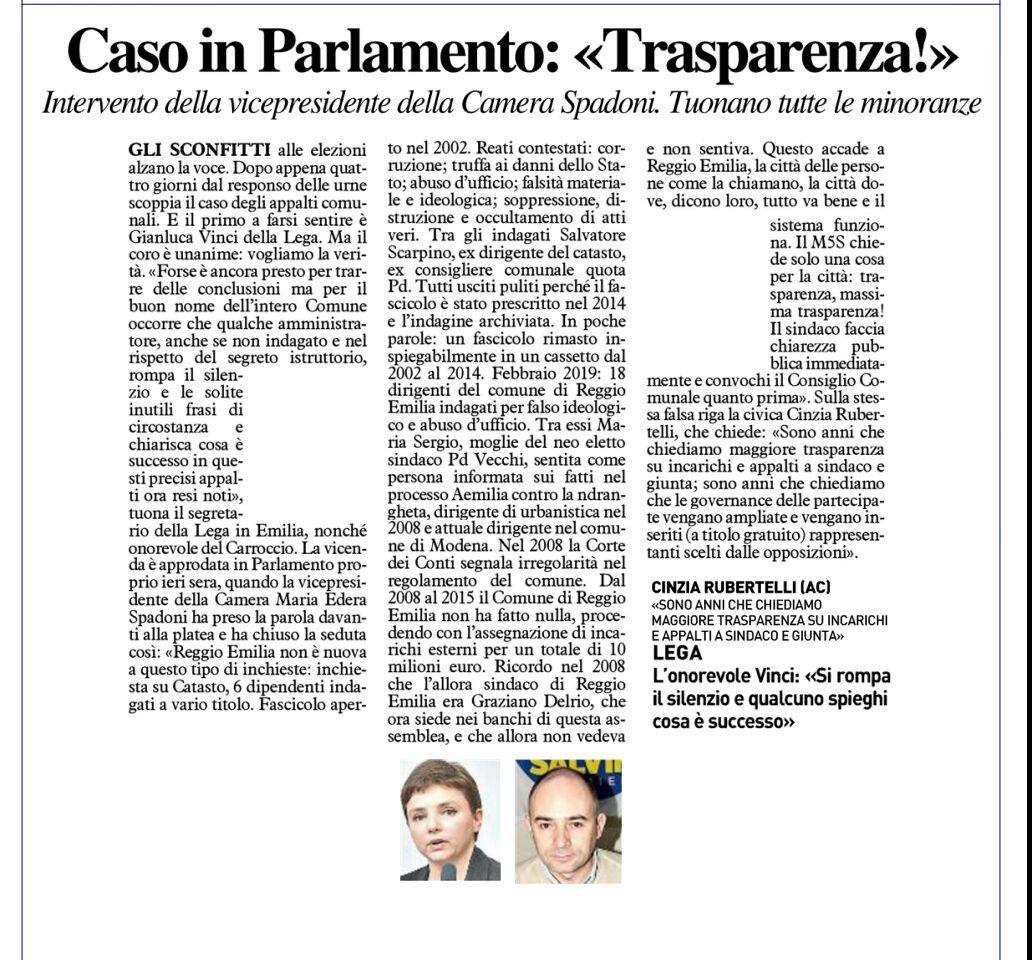 "Rs, Spadoni (M5S): "" Chiediamo massima trasparenza"""