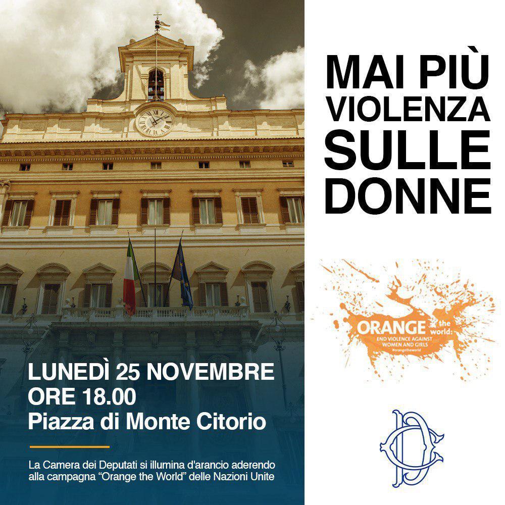 25 novembre, Montecitorio contro la violenza sulle donne.
