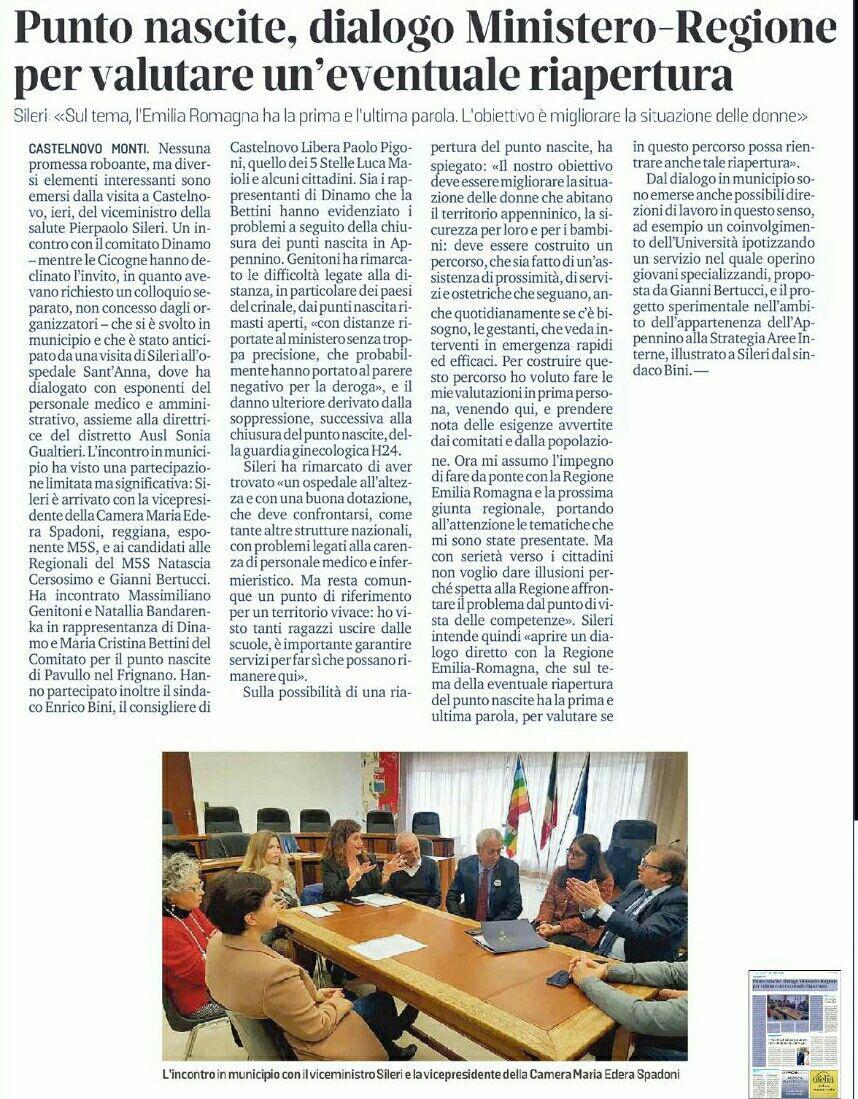 """Rs, M5S: """"Sileri farà da ponte con la Regione Emilia-Romagna per la riapertura del punto nascita"""""""