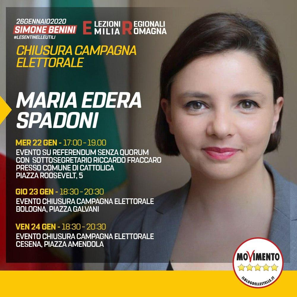 I miei appuntamenti per la chiusura della campagna elettorale in Emilia Romagna!