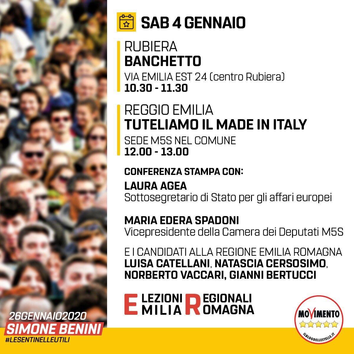 Conferenza stampa sabato 4 gennaio: tuteliamo il Made in Italy, tuteliamo i prodotti reggiani e le nostre aziende.