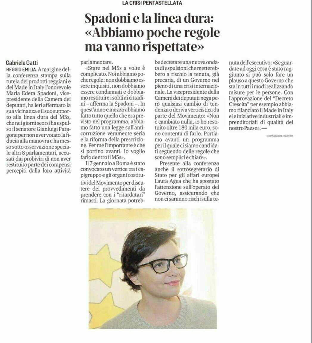 """Rs, Spadoni (M5S): """"Piano per rilanciare l'economia emiliana"""""""