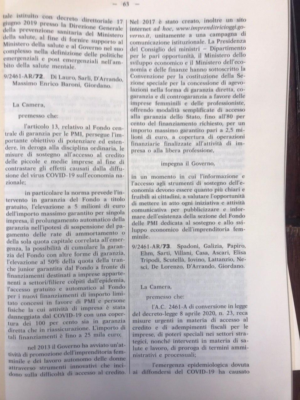 """Dl Liquidità, Vicepresidente della Camera dei Deputati Maria Edera Spadoni: """"Approvato sostegno a fondo PMI dedicato a imprenditoria femminile"""""""