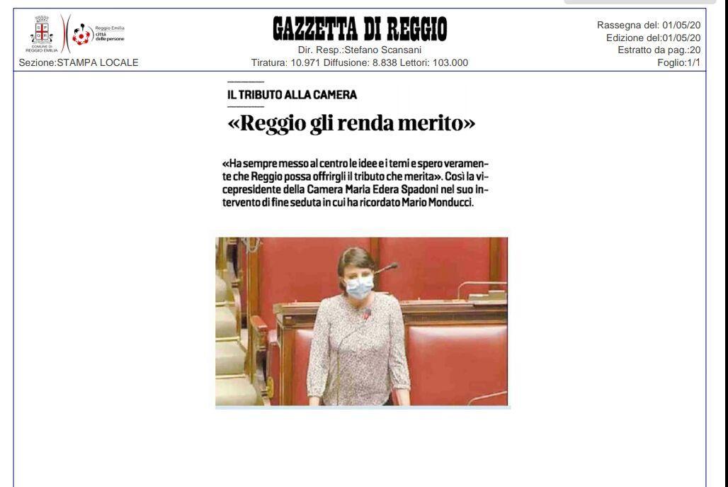"""Rs, Spadoni (M5S): """"Che Reggio Emilia renda merito a Mario Monducci"""""""