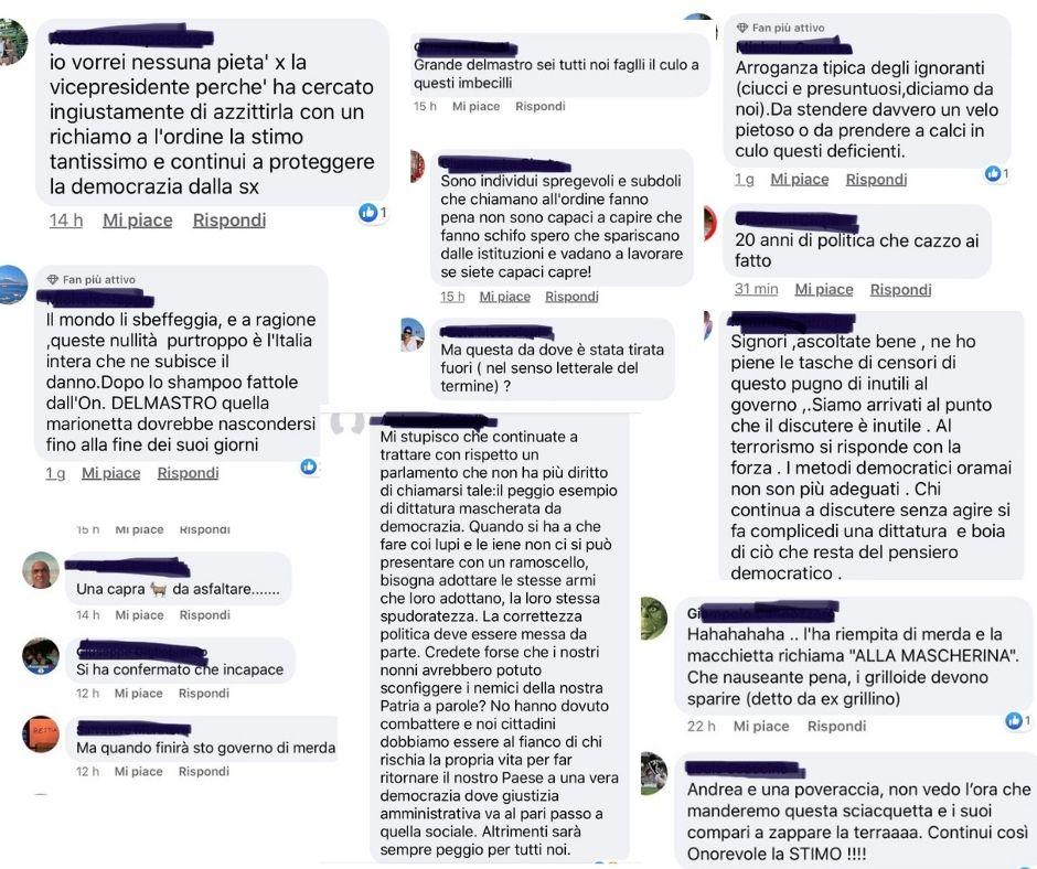 odio e commenti offensivi su Maria Edera Spadoni