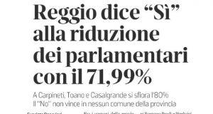 Reggio dice sì al taglio dei parlamentari