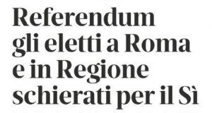gazzetta di reggio, il sì della spadoni al referendum