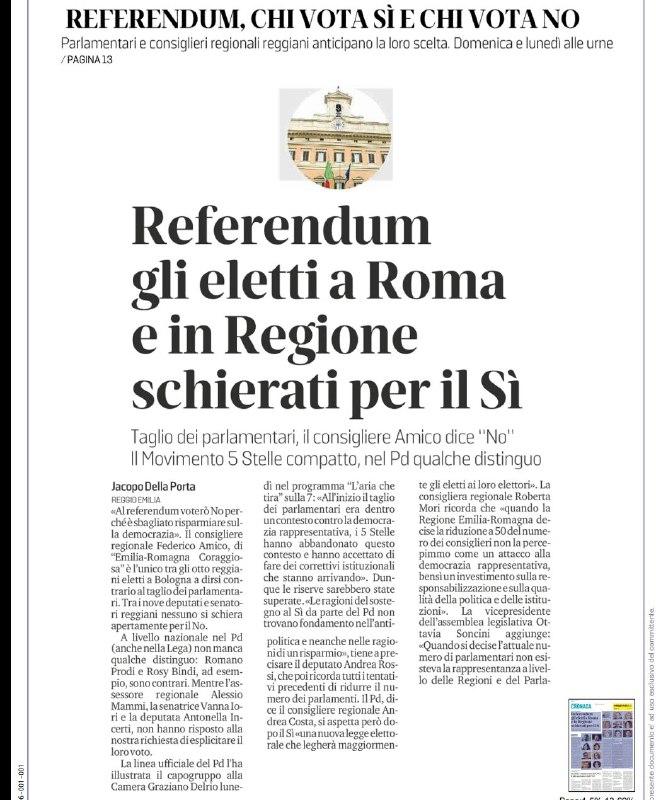 referendum, sì della Spadoni