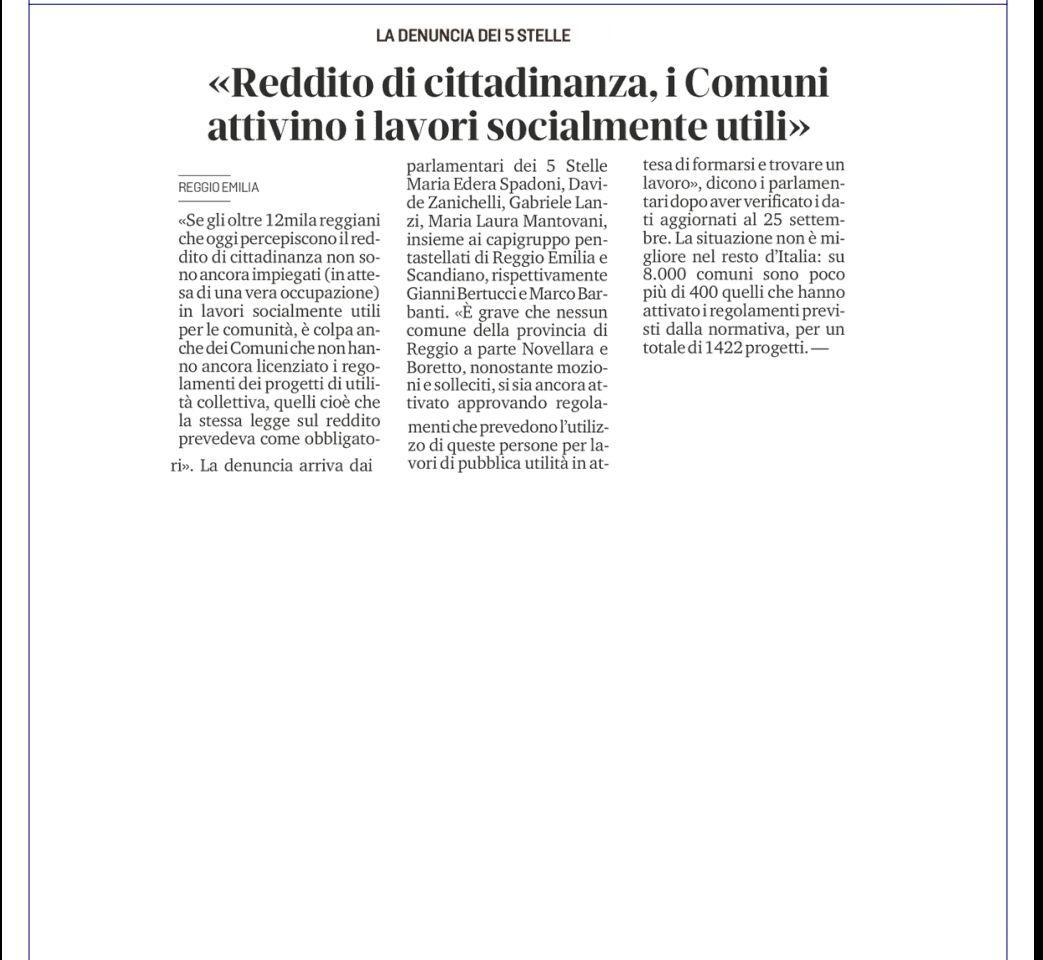 REDDITO DI CITTADINANZA, IGNORATO DAI COMUNI