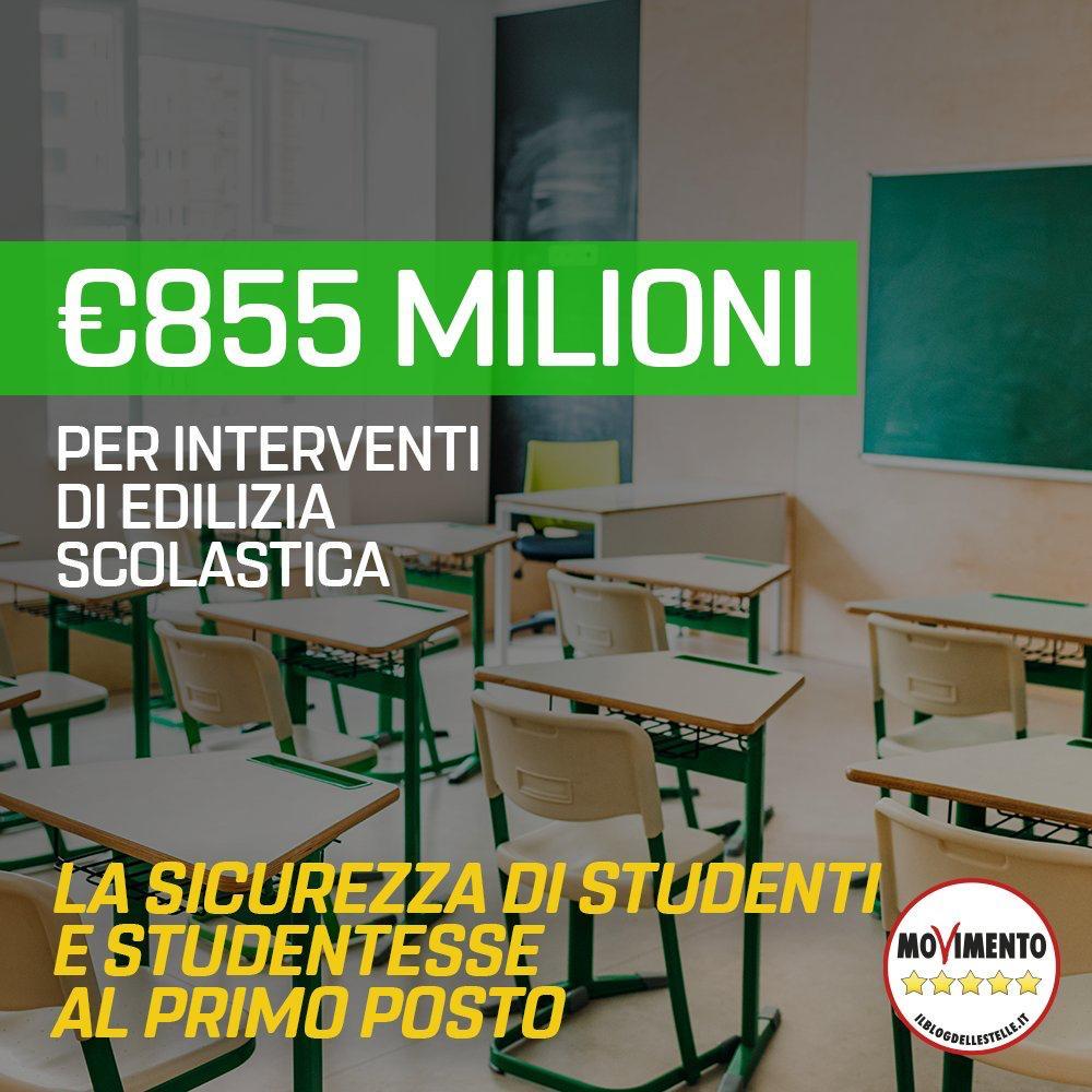 855 milioni per edilizia scolastica