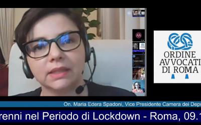 Condizioni e diritti dei minorenni nel periodo di lockdown – Convegno Ordine degli avvocati di Roma