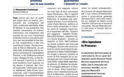 """CASO MESCOLINI. M5S: """"TRASFERIMENTO PER INCOMPATIBILITA' AMBIENTALE DI MESCOLINI FATTO MOLTO GRAVE. CHIEDIAMO MASSIMA CHIAREZZA"""""""