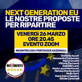NEXT GENERATION EU: LE NOSTRE PROPOSTE PER RIPARTIRE