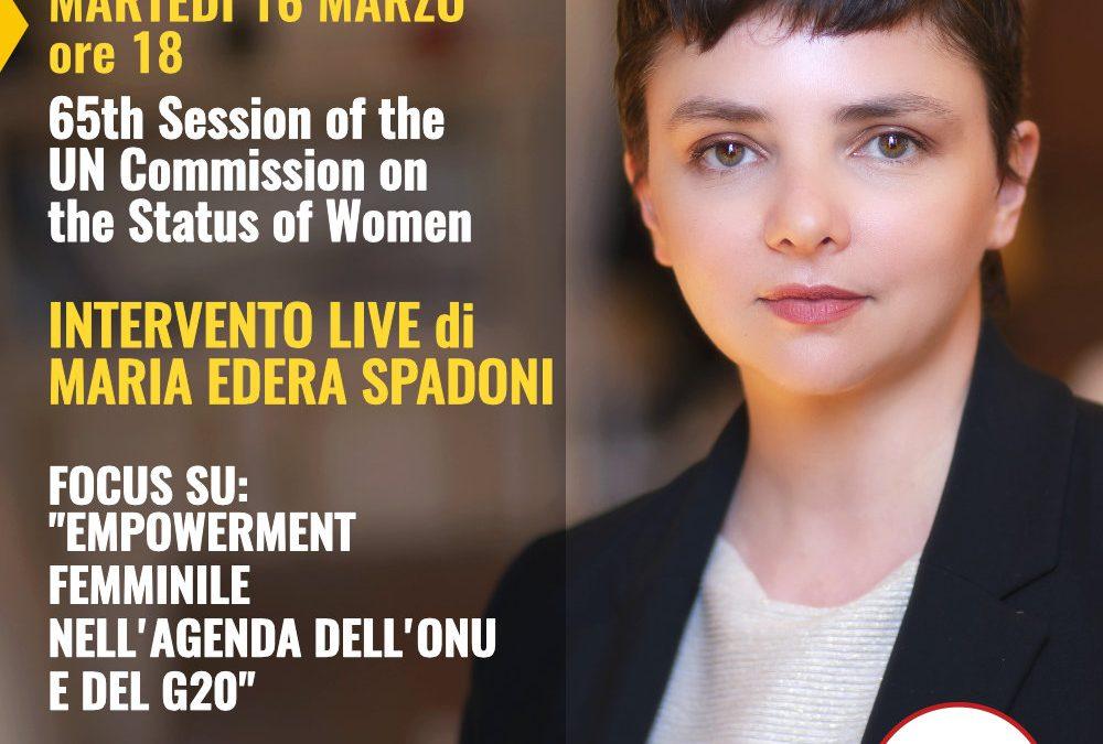 Maria Edera Spadoni alla 65a Sessione annuale della Commissione ONU sulla condizione femminile.