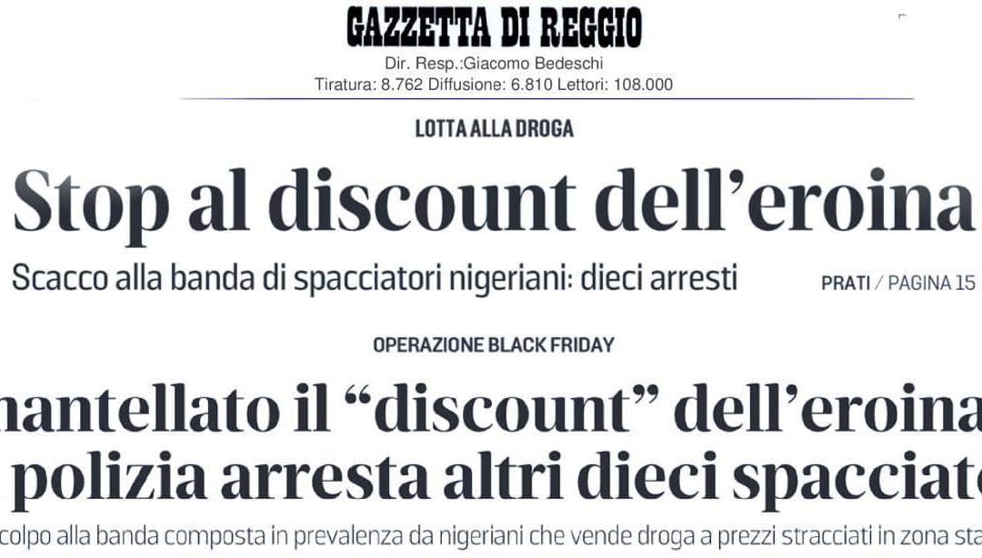 """OPERAZIONE BLACK FRIDAY. M5S: """"OTTIMI GLI ARRESTI LEGATI AL """"DISCOUNT"""" DELL'EROINA. PLAUSO ALLE FORZE DI POLIZIA"""""""