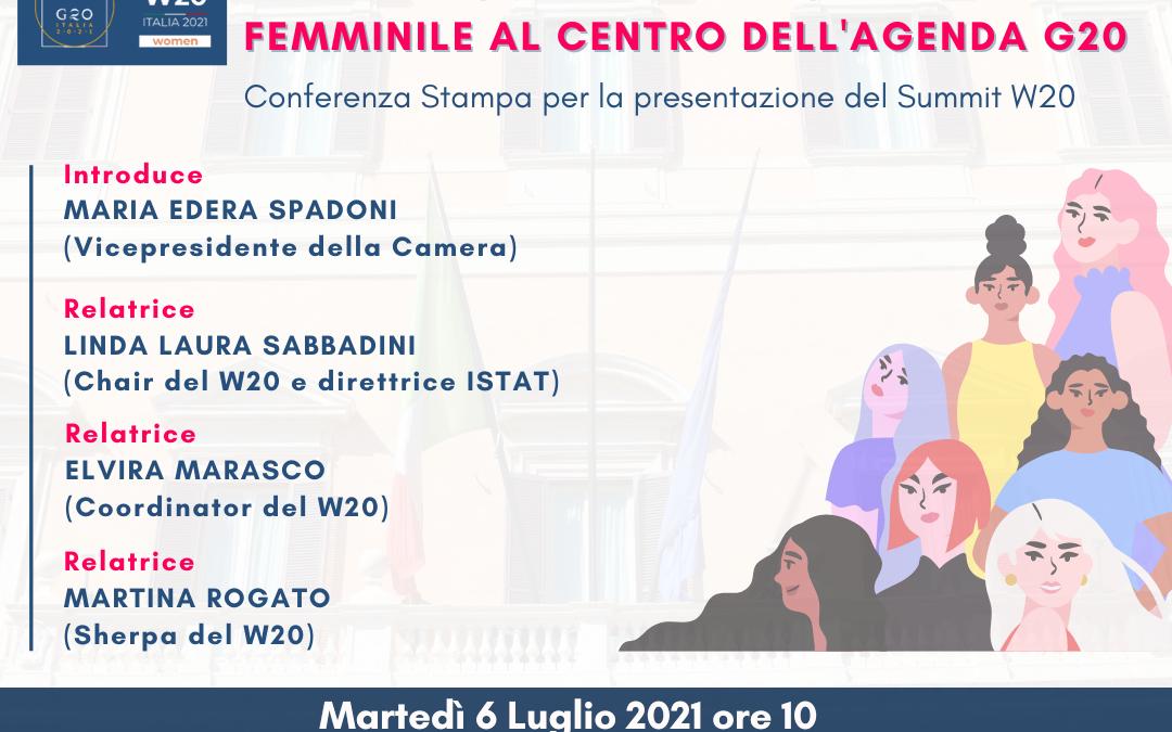 Conferenza Stampa WOMEN20 – Parità di genere ed empowerment femminile