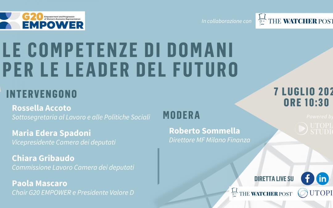 G20 EMPOWER – Le competenze di domani per le leader del futuro – Intervista a Maria Edera Spadoni