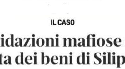 """INTIMIDAZIONI MAFIOSE. M5S: """"GRAVISSIME LE MINACCE ALL' AMMINISTRATRICE GIUDIZIARIA ALL'ASTA DEI BENI APPARTENENTI A SILIPO"""""""